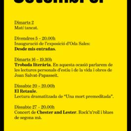 Agenda Setembre 2014
