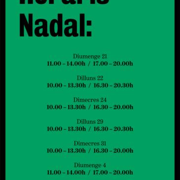 Horaris Nadal 2014-2015