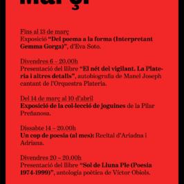 Agenda Març 2015