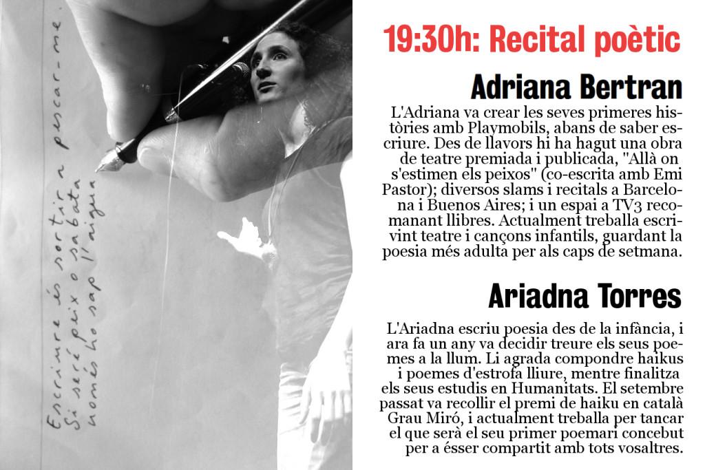 2 anys de culura: Recital d'Adriana Borràs i Ariadna Torres
