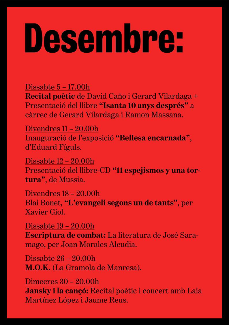 agenda desembre