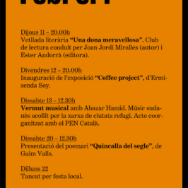 Agenda Febrer 2016