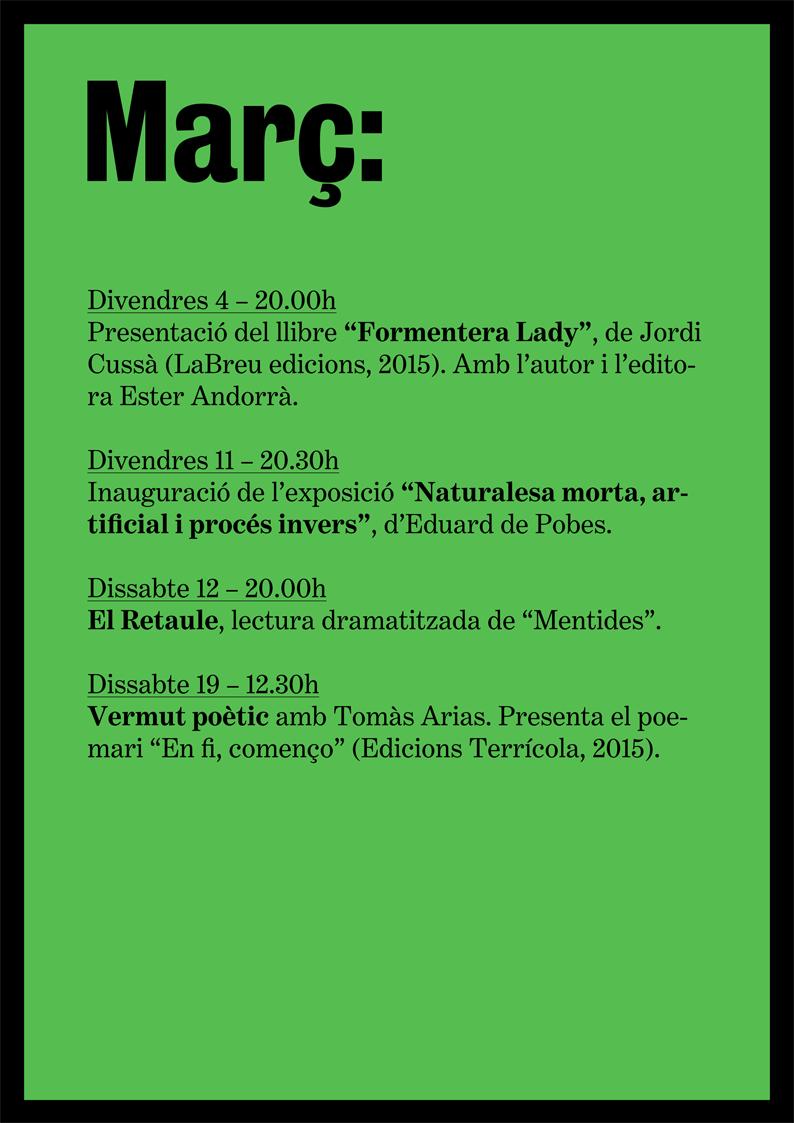 agenda març